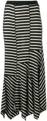 Sonia Rykiel asymmetric striped skirt