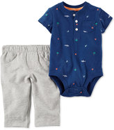 Carter's 2-Pc. Cotton Shark-Print Bodysuit & Pants Set, Baby Boys (0-24 months)