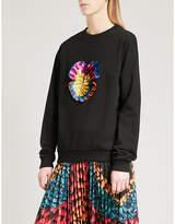 Mary Katrantzou Saker embroidered cotton-jersey jumper