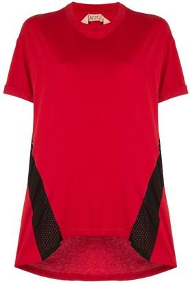No.21 mesh-panelled T-shirt