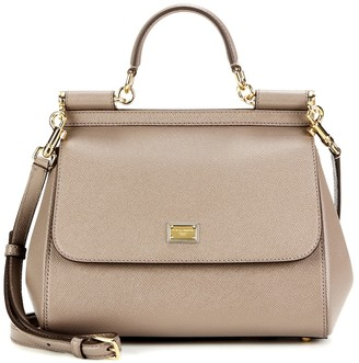 Dolce & Gabbana Sicily Medium leather shoulder bag