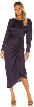 L'Academie Long Sleeve Midi Dress