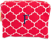 Cathy's Concepts Personalized Coral Moroccan Lattice Cosmetic Bag