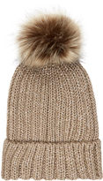 Accessorize Metallic Pom Beanie Hat