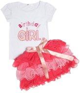 Jastore® Baby Girls Clothing Sets Birthday Girl Cute Top + Tutu Skirts