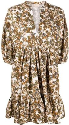By Ti Mo Floral Print Mini Dress