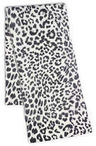 Michael Kors Leopard-Print Angora-Blend Scarf