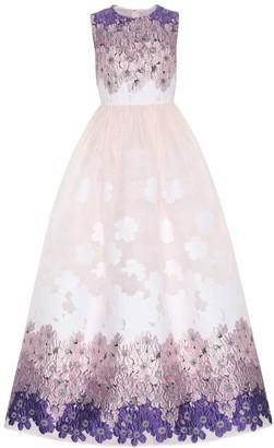 Huishan Zhang Beau floral jacquard gown