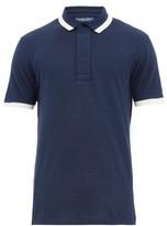 Frescobol Carioca Trimmed Cotton-pique Polo Shirt - Mens - Navy White