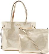 Folli Follie Light Gold Foliage Shoulder Bag & Pouch