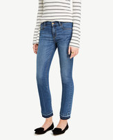 Ann Taylor Petite Raw Hem Kick Crop Jeans