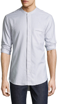Shades of Grey by Micah Cohen Band Collar Cotton Sportshirt