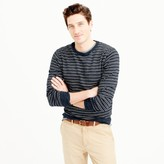 J.Crew Rugged cotton crewneck sweater in navy stripe