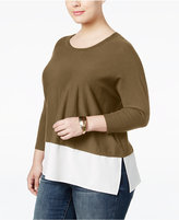 Style&Co. Style & Co Plus Size Layered-Look Sweater, Only at Macy's