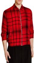 McQ by Alexander McQueen TartanZip Front Shirt Jacket