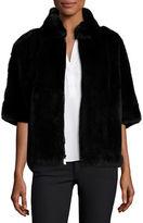 Diane von Furstenberg Rabbit Fur Bolero Jacket