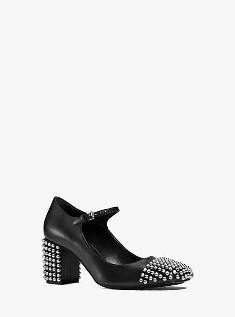 Michael Kors Bess Studded-Leather Pump