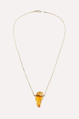 Harris Zhu - 14-karat Gold Amber Necklace