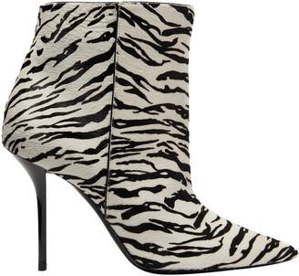 Saint Laurent Pierre Zebra-print Calf Hair Ankle Boots