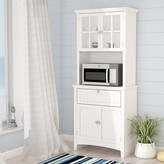 "Sorens Swanscombe 70"" Kitchen Pantry Highland Dunes Finish: White"