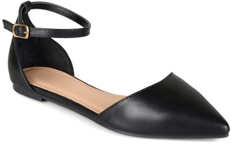 Journee Collection Reba Ankle Strap Flat