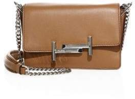 Tod's Double T Leather& Chain Shoulder Bag