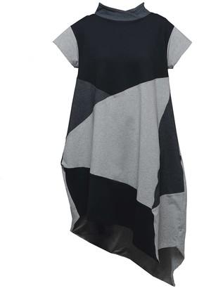 Non+ Non559 Short Sleeve Abstract Sweater Dress
