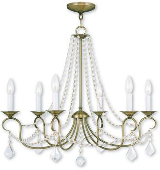 Livex Lighting Livex Pennington 6-Light Antique Brass Chandelier