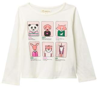 Tucker + Tate Long Sleeve Graphic Tee (Toddler, Little Girls & Big Girls)