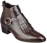 Marc Fisher Rayna Fringe-Accented Leather Ankle Boots