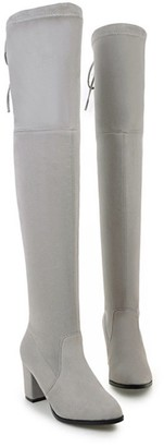 Goodnight Macaroon 'Julie' Heeled Over The Knee Boots (5 Colors)