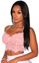 Loveus Women's Vest Sexy Floral Lace Bralette Top Spaghetti Strap Crop Cami