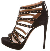 Alaia Caged Laser Cut Sandals