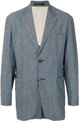 Yohji Yamamoto Pre Owned Tonal-Stitching Single-Breasted Blazer