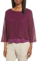 Eileen Fisher Petite Women's Organic Linen Crop Sweater