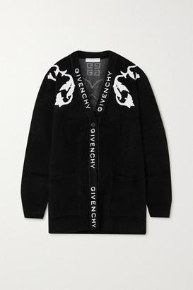 Givenchy Intarsia Knitted Cardigan - Black