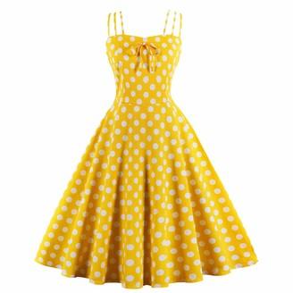 E Girl E-girl EM1637 Women Plus Size A Line Rockabilly Dress Sleeveless Strapless Swing Party Midi Dress