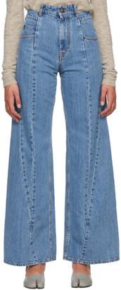 Maison Margiela Blue Oversized High-Waist Jeans
