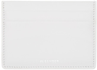 Jil Sander White Leather Card Holder