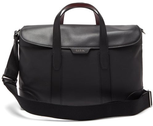 Paul Smith Signature-striped Leather Briefcase - Mens - Black
