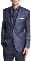 HUGO BOSS Johnston Silk Two-Button Jacket, Blue