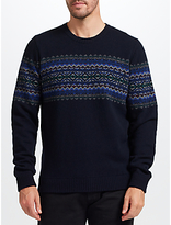 John Lewis Fair Isle Chest Pattern Jumper, Multi