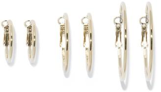 Forever New Aida Three-Pack Hoop Earrings - Gold - 00