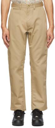 Clot Beige Contrast Roll-Up Cuffs Trousers