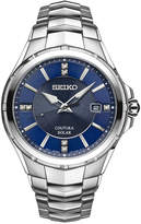 Seiko Men's Solar Coutura Diamond Accent Stainless Steel Bracelet Watch 42mm SNE443