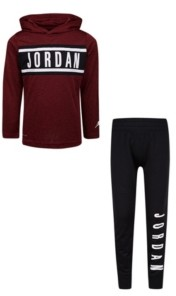 Jordan Little Boys Hooded Top and Pants Set