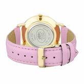 Laura Ashley Womens Pastel Pink Strap Watch-LA31020PK