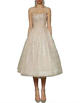 Bronx & Banco Mademoiselle Bridal Midi Dress