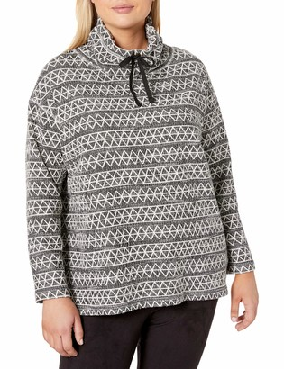 Chaps Women's Plus Size Pull Over Cowl Neck Long Sleeve Sweater