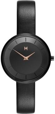 MVMT Women's Mod B2 Black Leather Strap Watch 32mm